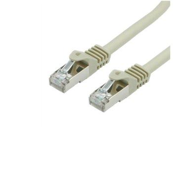 Пач кабел Roline, S/FTP, Cat.7, 1m, сив image