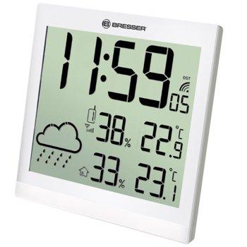 Електронна метеостанция Bresser TemeoTrend JC LCD, вътрешна и външна температура, вътрешна и външна влажност, бяла image
