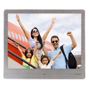 """Фоторамка Hama Slim Steel 8SLB, 8"""" (20.32cm), XGA, поддържа SD/SDHC/MMC карти, дистанционно, сива image"""