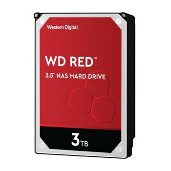 "Твърд диск 3TB WD Red NAS, SATA 6Gb/s, 5400 rpm, 64MB, 3.5""(8.89 cm) image"