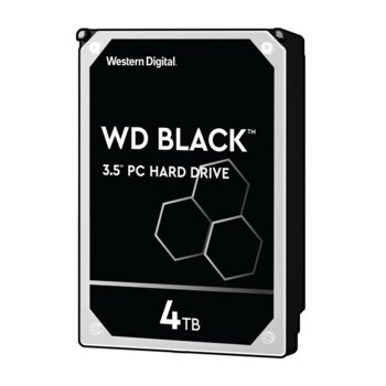 "Твърд диск 4TB Western Digital Black WD4005FZBX, SATA 6Gb/s, 7200 rpm, 256MB кеш, 3.5"" (8.89 cm) image"