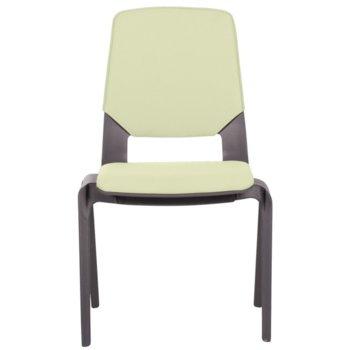 Посетителски стол Carmen Limber, полипропилен, до 130кг, жълт image