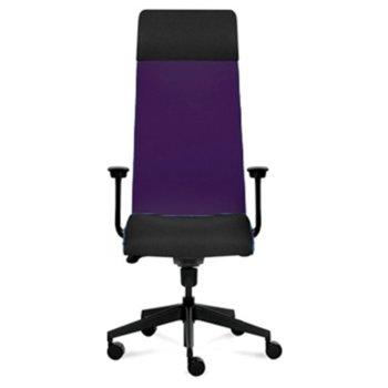 Президентски стол Tronhill Solium Executive (ON4010200074), дамаска и меш, 120 кг. максимално натоварване, 5 заключващи се работни позиции, лилав image