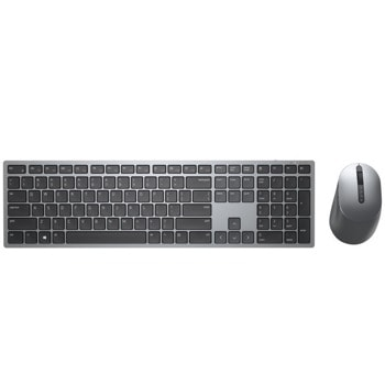 Комплект клавиатура и мишка Dell Premier Multi-Device Wireless Keyboard and Mouse - KM7321W, безжични, Bluetooth USB, сиви image