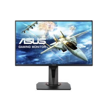 "Монитор Asus VG258QR, 24.5""(62.23cm) TN панел, Full HD, 165Hz, 1ms, 100000000:1, 400 cd/m2, DisplayPort, HDMI, DVI image"