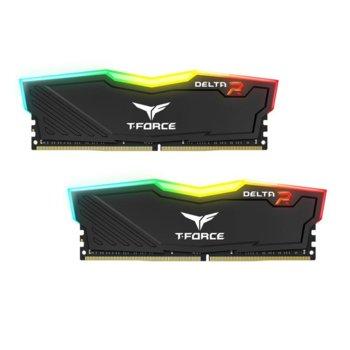 Памет 32GB (2X 16GB) DDR4 3000MHz, Team Group T-Force DELTA RGB Black TF3D432G3000HC16CDC01, 1.35V image