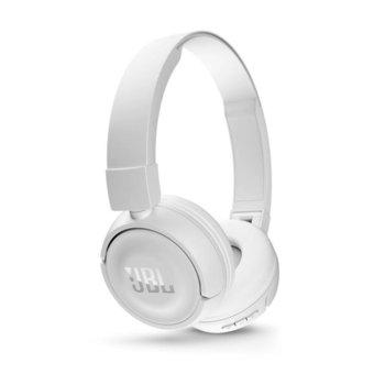 Слушалки JBL T450 BT, безжични, микрофон, до 11 часа работа, бели image