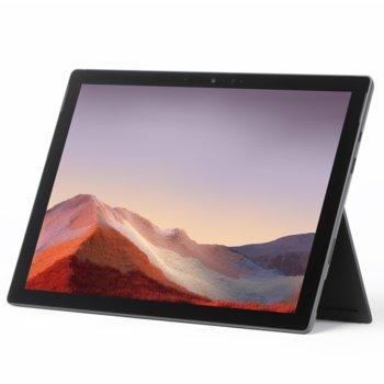 "Лаптоп Microsoft Surface Pro 7 (VNX-00018)(черен), 12.3"" (31.24 cm) PixelSense дисплей, четириядрен Intel Core i7-1065G7 1.3/3.9 GHz, 16GB LPDDR4, 256 GB SSD (+ microSD слот), 8.0 & 5.0 Mpix камера, Windows 10 Home, 790 g, без клавиатура image"