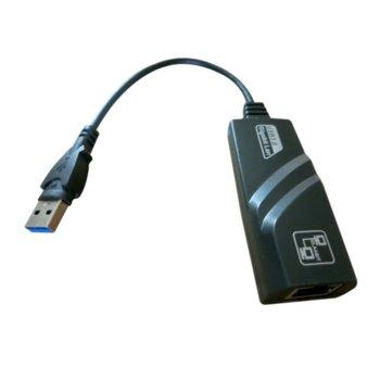 Мрежови адаптер VCom CU835, USB 3.0 А(м) към LAN (RJ-45), 1000Mbps image