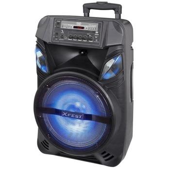 Тонколона Trevi XFest XF 1200 KB, 100W, Bluetooth, AUX, TWS, черна, подсветка image