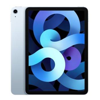 """Таблет Apple iPad Air 4 Wi-Fi (MYFQ2HC/A)(син), 10.9"""" (27.69 cm) Retina дисплей, шестядрен A14 Bionic, 4GB RAM, 64GB Flash памет, 12.0 & 7.0 MPix камера, Ipad OS image"""