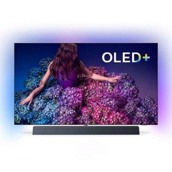 """Телевизор Philips 55OLED934/12, 55"""" (139.7 cm) OLED+ Smart TV, 4K/Ultra HD, DVB-T2/C/S2, Wi-Fi, LAN, Bluetooth, HDMI, 2x USB, Philips Ambilight image"""