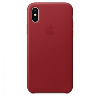 Apple iPhone X Leather Case - (PRODUCT) RED product