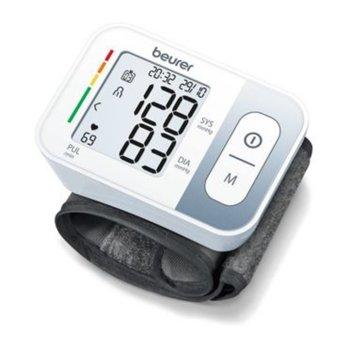 Апарат за кръвно налягане Beurer BC 28, индикатор за неправилно използване, индикатор за аритмия, автоматично изключване, бял image
