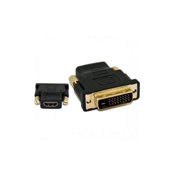 Преходник от DVI(м) към HDMI(ж), черен image