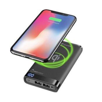 Външна батерия/power bank/ CellularLine PowerUp Manta Wireless, 8000mAh, черна, безжично зареждане image