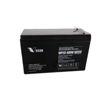 Акумулаторна батерия Vision HP12-50WF2, 12V, 9 Ah, VRLA image