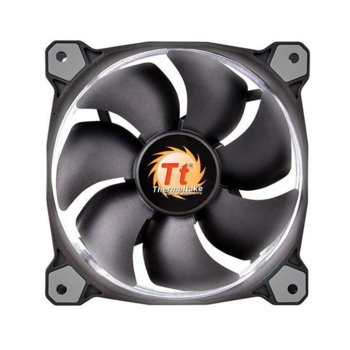 Вентилатор 140mm, Thermaltake Riing 14 RGB, 3-pin, 1500 rpm, бял image