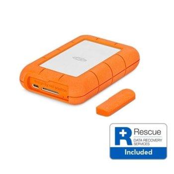 """Твърд диск Lacie 1TB Rugged (оранжев), външен, 2.5"""" (6.35 cm), USB-C image"""