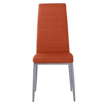 Трапезен стол Carmen 515, дамаска, тъмно оранжев image