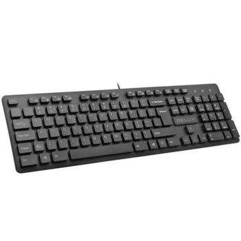 Комплект клавиатура и мишка Delux DLK-KA150U, M136BU, USB, черни image