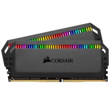 Памет 16GB (2x8GB) DDR4 4000MHz, Corsair Dominator Platinum RGB, CMT16GX4M2K4000C19, 1.35V, RGB image