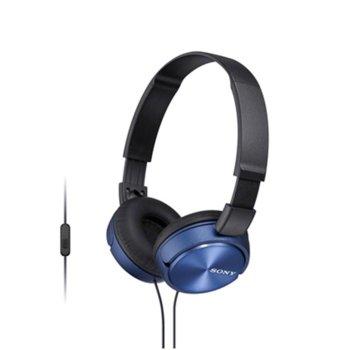 Слушалки Sony MDR-ZX310AP, сини image