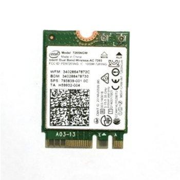 Мрежова карта Intel Dual Band Wireless-AC 7265, 867 Mbps, mini PCI-E image
