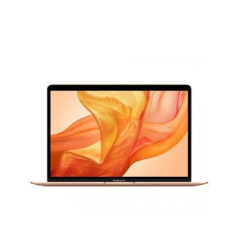 "Лаптоп Apple MacBook Air 13 (2020)(MVH52ZE/A_Z0XA0004X/BG)(златист), четириядрен Ice Lake Intel Core i5-1030NG7 1.1/3.5 GHz, 13.3"" (33.78 cm) Retina IPS LED-backlit Display, (Thunderbolt), 8GB, 512GB SSD, Mac OS Catalina image"