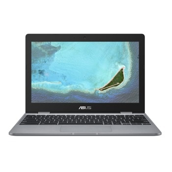"Лаптоп Asus Chromebook C223NA-GJ0055 (90NX01Q1-M00810)(сив), двуядрен Apollo Lake Intel Celeron N3350 1.1/2.4 GHz, 11.6"" (29.46 cm) HD Anti-Glare LED-Backlit Display, (HDMI), 4GB DDR4, 32GB eMMC, 2x USB 3.2 Type C, Chrome OS image"