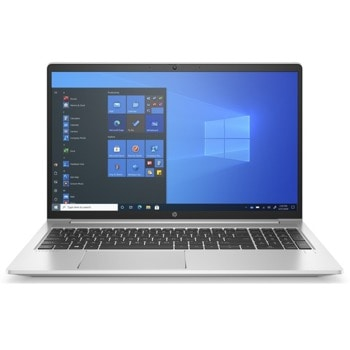 "Лаптоп HP ProBook 450 G8 (2X7W9EA)(сребрист), четириядрен Tiger Lake Intel Core i7-1165G7 2.8/4.7 GHz, 15.6"" (39.62 cm) Full HD IPS Anti-Glare Display & GF MX450 2GB, (HDMI), 8GB DDR4, 512GB SSD, 1x USB 3.1 Type-C, Free DOS image"