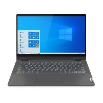 "Лаптоп Lenovo IdeaPad Flex 5 14IIL05 (81X1009JBM)(сив), двуядрен Ice Lake Intel Core i3-1005G1 1.2/3.4 GHz, 14"" (35.56 cm) Full HD IPS Glossy Multi-touch Display, (HDMI), 8GB DDR4, 512GB SSD, 1x USB Type-C, Windows 10 Home image"