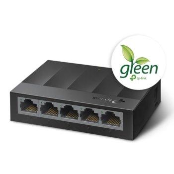 Суич TP-Link LS1005G, 1000Mbps, 5x 10/100/1000Mbps image