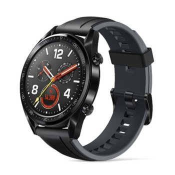 "Смарт часовник Huawei Watch GT, 1.39"" (3.53cm) AMOLED дисплей, Bluetooth, водоустойчив 5 ATM, черен image"