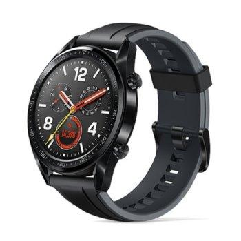 """Смарт часовник Huawei Watch GT, 1.39"""" (3.53cm) AMOLED дисплей, Bluetooth, водоустойчив 5 ATM, черен image"""
