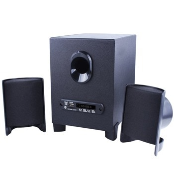 Тонколони Kisonli TM-6000U, 2.1, 11W, AUX, Bluetooth 5.0, USB, SD Card, черни, USB захранване, дистанционно image