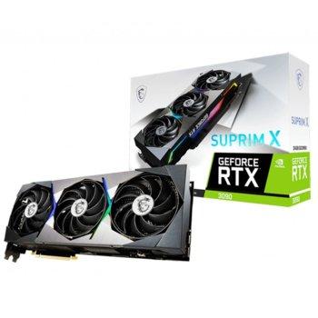 Видео карта Nvidia GeForce RTX 3090, 24GB, MSI SUPRIM X, 912-V388-010 , GDDR6X, 384-bit, DP, HDMI image