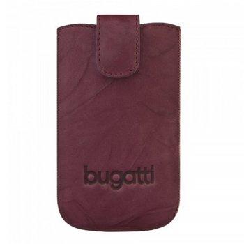 Универсален калъф, джоб, естествена кожа, Bugatti Unique Leather L, лилав image