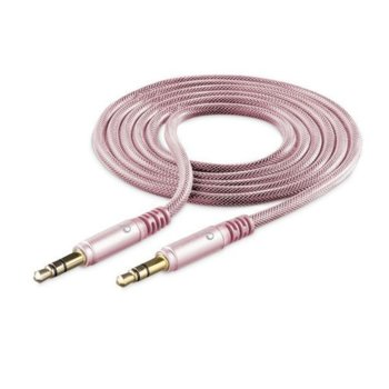 Кабел Cellular Line Unique Design, от 3.5mm жак(м) към 3.5mm жак(м), 1m, розов image