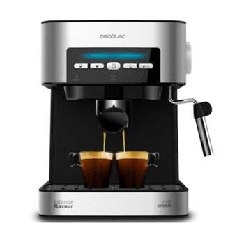 Кафемашина Cecotec Power Espresso 20 Matic, 850W, 20 bar, капацитет на резервоара за вода 1.5л., цифрово управление EasyTouch, индикатори за всяка функция, инокс image