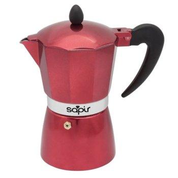 Кубинска кафеварка Sapir SP 1173 I6R, 6 чаши, червена image