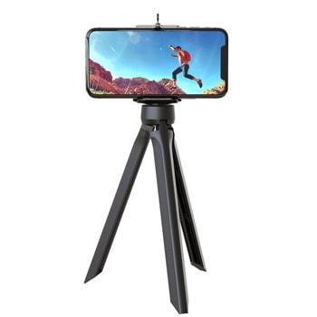 Мини трипод One Plus NE5129, макс. височина 19 cm, стойка за мобилни устройства от 3.5 до 6 инча, черен image