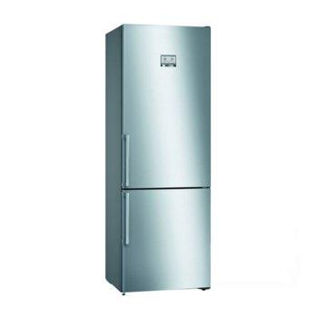 Хладилник с фризер Bosch KGN49AIEQ, клас A++, 435 л. общ обем, свободностоящ, 303 kWh/годишно, NoFrost, инокс image