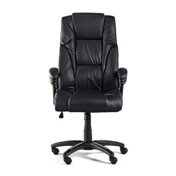 Директорски стол Fuego, естествена кожа, черен image