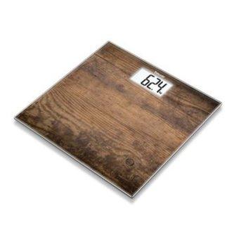 Електронен кантар Beurer GS 203 Wood, автоматично вкл./икл., LCD дисплей, натоварване до 150 кг, възможност за избор на мерни единици (kg/lb/st) image