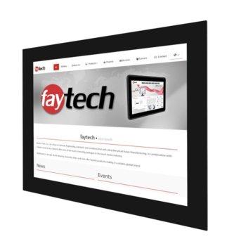 """Индустриален монитор Faytech 1010501724 FT15TMCAPOFHBOB, 15"""" (38.10 cm)HD Touchscreen, HDMI, DVI-D, VGA image"""