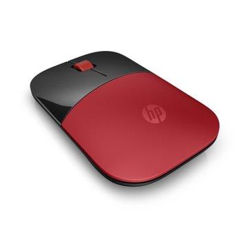 Мишка HP Z3700, оптична (1200 dpi), безжична, USB, червена, нископрофилен дизайн image