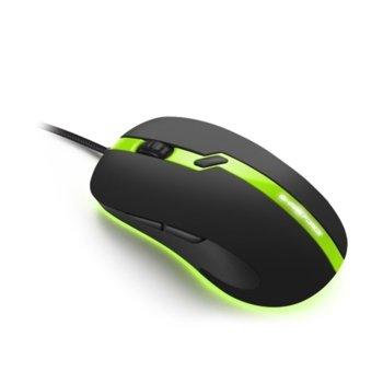 Мишка Sharkoon Shark Force Pro, оптична(3200dpi), 6 бутона, USB, черно-зелена image