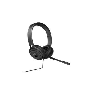 Слушалки HP USB 500 Headset, микрофон, USB, черни  image