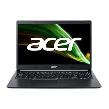 """Лаптоп Acer Aspire 5 A515-45 (NX.A83EX.001), четириядрен AMD Ryzen 3 5300U 2.6/3.8GHz, 15.6"""" (39.62 cm) Full HD IPS Anti-Glare Display, (HDMI), 8GB DDR4, 256GB SSD & 1TB HDD, 1x USB-C, No OS image"""